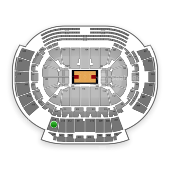 Atlanta Hawks at Philips Arena Section 314 View