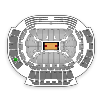Atlanta Hawks at Philips Arena Section 316 View