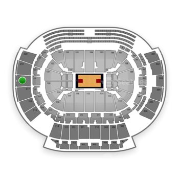 Atlanta Hawks at Philips Arena Section 318 View