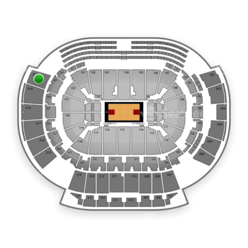Atlanta Hawks at Philips Arena Section 320 View