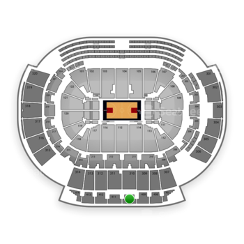 Atlanta Hawks at Philips Arena Section 410 View