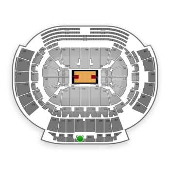 Atlanta Hawks at Philips Arena Section 411 View