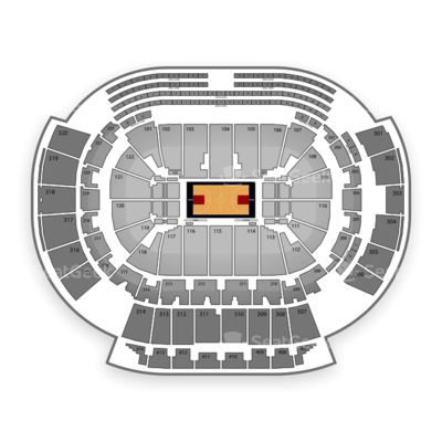 Philips Arena seating chart Atlanta Hawks