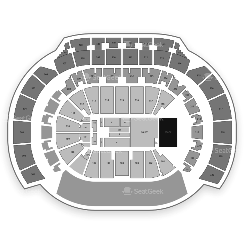 State Farm Arena Seating Chart Concert & Map | SeatGeek
