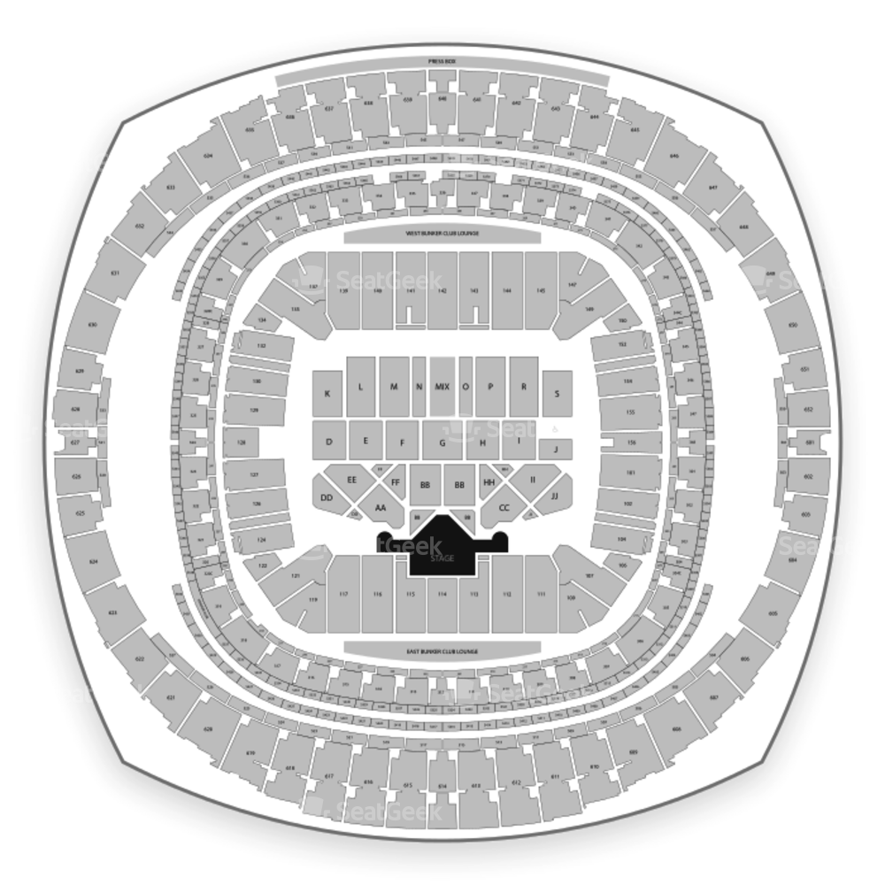 Mercedes-Benz Superdome Seating Chart Music Festival