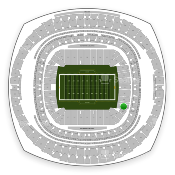 New Orleans Saints at Mercedes-Benz Superdome Section 104 View