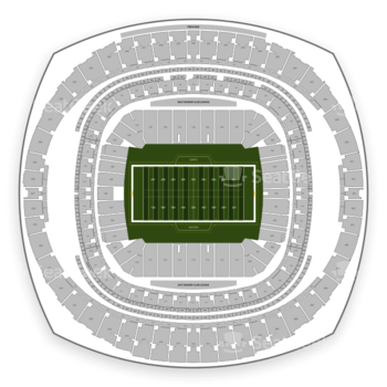 New Orleans Saints at Mercedes-Benz Superdome Section 108 View