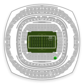 New Orleans Saints at Mercedes-Benz Superdome Section 109 View