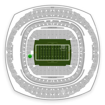 New Orleans Saints at Mercedes-Benz Superdome Section 127 View