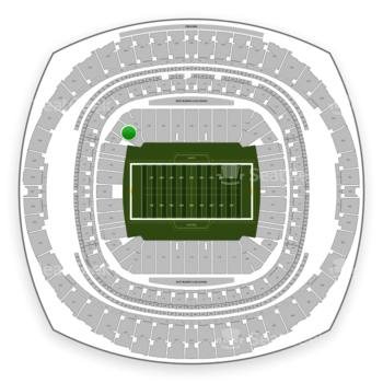 New Orleans Saints at Mercedes-Benz Superdome Section 135 View