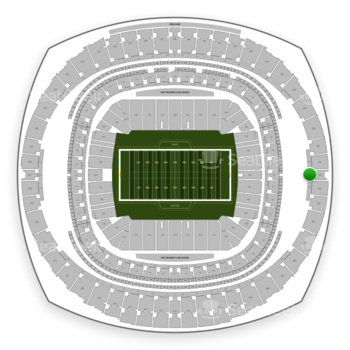 New Orleans Saints at Mercedes-Benz Superdome Section 501 View