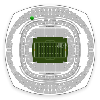 New Orleans Saints at Mercedes-Benz Superdome Section 537 View