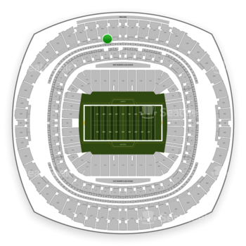 New Orleans Saints at Mercedes-Benz Superdome Section 543 View