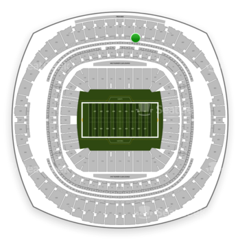 New Orleans Saints at Mercedes-Benz Superdome Section 549 View