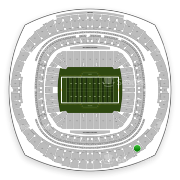New Orleans Saints at Mercedes-Benz Superdome Section 608 View