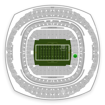 New Orleans Saints at Mercedes-Benz Superdome Section 101 View
