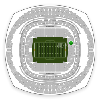 New Orleans Saints at Mercedes-Benz Superdome Section 154 View
