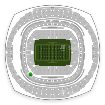 New Orleans Saints at Mercedes-Benz Superdome Section 232 View