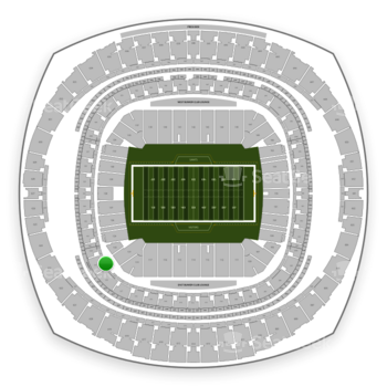 New Orleans Saints at Mercedes-Benz Superdome Section 233 View