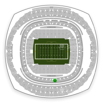 New Orleans Saints at Mercedes-Benz Superdome Section 311 View