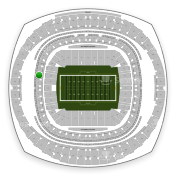 New Orleans Saints at Mercedes-Benz Superdome Section 326 View