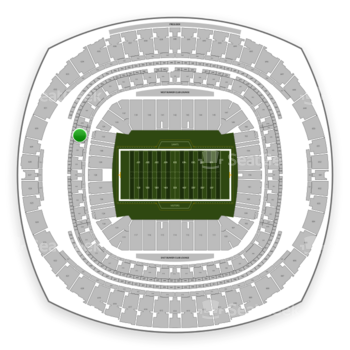 New Orleans Saints at Mercedes-Benz Superdome Section 327 View