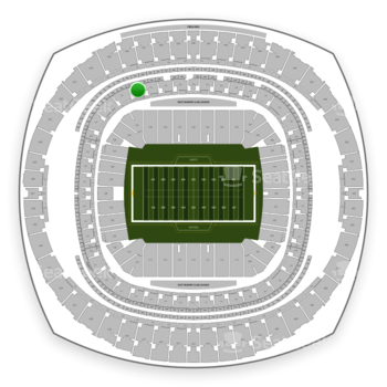 New Orleans Saints at Mercedes-Benz Superdome Section 332 View