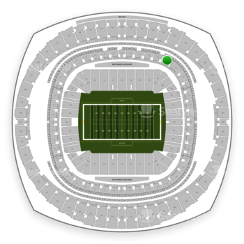 New Orleans Saints at Mercedes-Benz Superdome Section 341 View