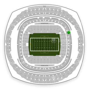 New Orleans Saints at Mercedes-Benz Superdome Section 344 View