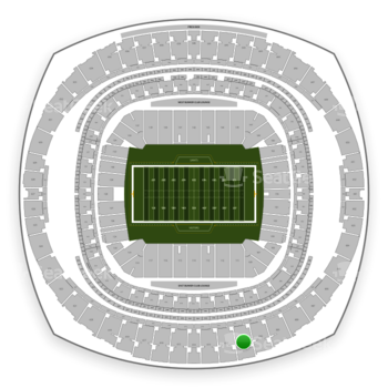 New Orleans Saints at Mercedes-Benz Superdome Section 611 View