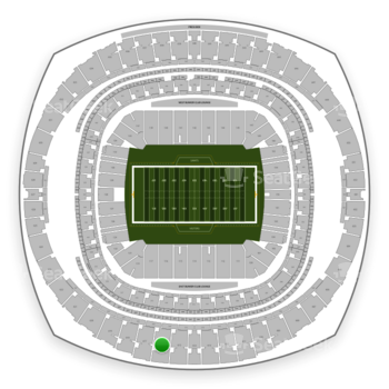 New Orleans Saints at Mercedes-Benz Superdome Section 616 View