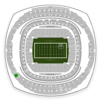 New Orleans Saints at Mercedes-Benz Superdome Section 622 View