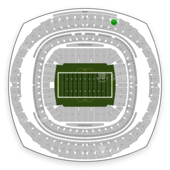New Orleans Saints at Mercedes-Benz Superdome Section 644 View