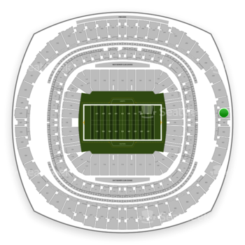 New Orleans Saints at Mercedes-Benz Superdome Section 652 View