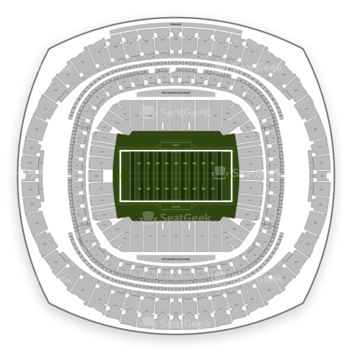 New Orleans Saints Seating Chart