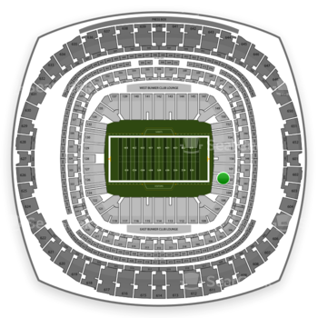 New Orleans Saints at Mercedes-Benz Superdome Section 102 View