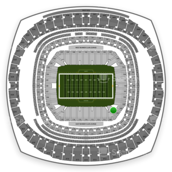 New Orleans Saints at Mercedes-Benz Superdome Section 107 View