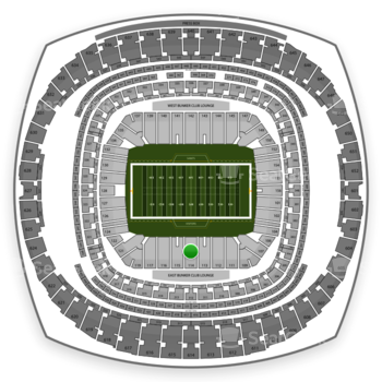 New Orleans Saints at Mercedes-Benz Superdome Section 114 View