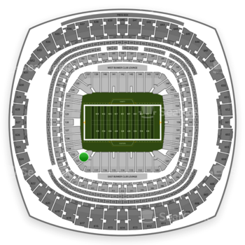 New Orleans Saints at Mercedes-Benz Superdome Section 121 View