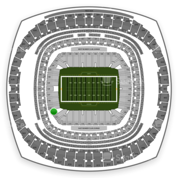 New Orleans Saints at Mercedes-Benz Superdome Section 122 View
