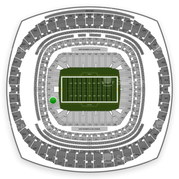New Orleans Saints at Mercedes-Benz Superdome Section 126 View