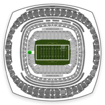 New Orleans Saints at Mercedes-Benz Superdome Section 128 View