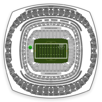 New Orleans Saints at Mercedes-Benz Superdome Section 129 View