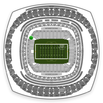 New Orleans Saints at Mercedes-Benz Superdome Section 134 View