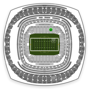 New Orleans Saints at Mercedes-Benz Superdome Section 144 View