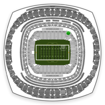 New Orleans Saints at Mercedes-Benz Superdome Section 147 View