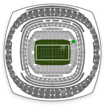 New Orleans Saints at Mercedes-Benz Superdome Section 152 View