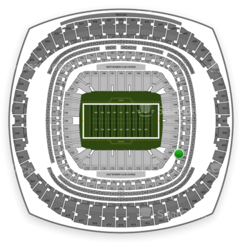 New Orleans Saints at Mercedes-Benz Superdome Section 207 View