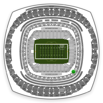 New Orleans Saints at Mercedes-Benz Superdome Section 211 View