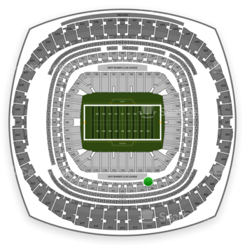New Orleans Saints at Mercedes-Benz Superdome Section 217 View